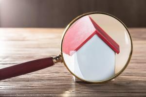 House Model Through Magnifying Glass