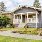 Small gray craftsman house